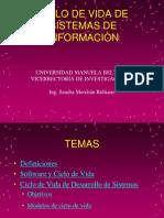 Ciclo de Vida de Sistemas de Informacion