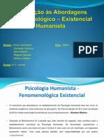 3º C - Powerpoint - Trabalho - Introdução às Abordagens Fenomenológico – Existencial Humanista