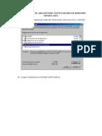 Configuracion de Una Entidad Certificadora en Windows Server 2003