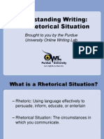 Understanding Writing the Rhetorical Situation (Purdue Online Writing Lab)