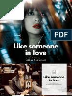 Like Someone in Love Kiarostami Pressbook