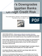 Moody's Downgrades Five Egyptian Banks On High Credit Risk