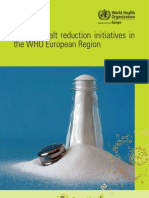 Mapping Salt Reduction Initiatives in the WHO European Region