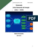 Venezuela. Pronostico Demanda de Energia (2011 - 2040)