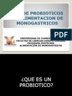 Uso de Probioticos en Alimentacion de Monogastricos