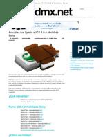 Actualiza Tus Xperia a ICS 4.0