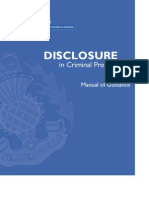 CJ ACPOSDisclosure in CriminalProceedingsManual of GuidanceV2NPM