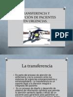 TRANSFERENCIA Y RECEPCIÓN DE PACIENTES EN URGENCIAS
