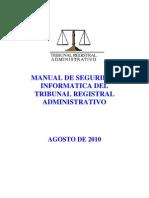 Manual de Seguridad Informática del TRA