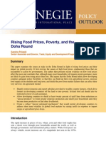 Rising Food Prices, Poverty, and the Doha Round