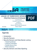 USAGE OF EMBEDDED SENSORS FOR DATA PROTECTION IN STORAGE DEVICES