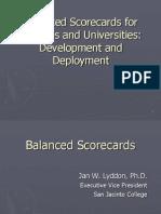 Balanced Scorecards (TAIR Presentation 2007)