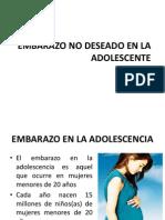 Embarazo No Deseado en La Adolescente