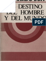 122967313 Boff Leonardo El Destino Del Hombre y Del Mundo