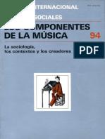 Sociología - Los componentes de la música