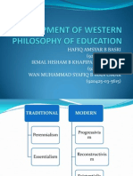 Development of Western Philosophy of Education