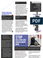 NC School Law Bullying Brochure