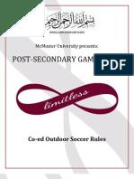 Soccer Rules PSG 2013