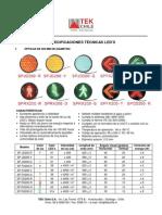 Especificaciones LED s