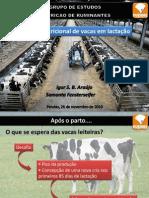 manejo nutricional de vacas em lactação