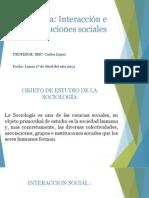 Clase Magistral No. 3 - Interacciones e Instituciones Sociales.pptx