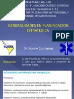 Generalidades en Planificación Estratégica