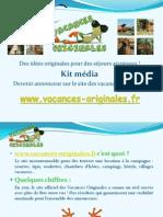 Kit Média Vacances Originales