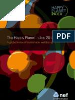 Indice Mundial de Felicidad 2012