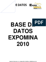 Base de Datos Expomina 2010 PDF