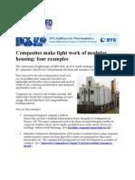 Composites make light work of modular housing.doc