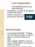 FINANCIERO I Aspectos Generales de Las Finanzas Publicas