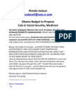 Obama Budget to Propose Cuts in Social Security Medicare