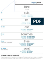 French Common verbs poster (A4) - free download