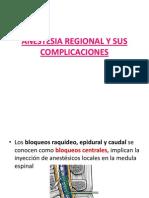 Anestesia Regional y Sus Complicaciones