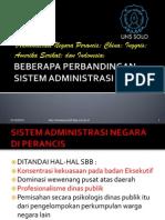 Bahan 5 Beberapa Perbandingan Sistem Administrasi Negara