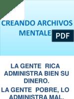 CREANDO ARCHIVOS MENTALES