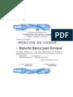 Diplomas Cuarto Mención de Honor