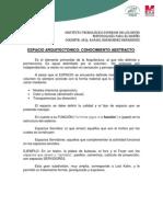 3.6 (extra, ESPACIO ARQUITECTÓNICO (CONOCIMIENTO ABSTRACTO)