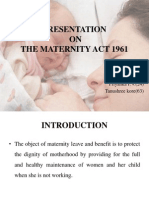 Maternity Benefit Act - 1961