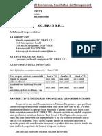 Managementul Proiectelor - SC Bran SRL