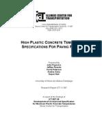Highly Plastic Concrete Temperature