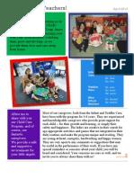 New Teacher EY Newsletter 2013