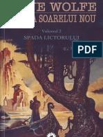 Gene Wolfe - Cartea Soarelui Nou Vol.3 - Spada Lictorului v 2.0