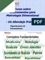 MITUTOYO - Curso sobre Instrumentos para Metrología Dimensional