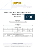 Lightning and Surge Protection Requirements(Signalling) ARTC-ESC-09-02