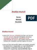 Analiza muncii