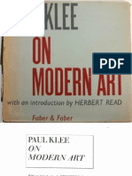 Klee Paul on Modern Art
