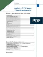 VPN Secure Questionnaire