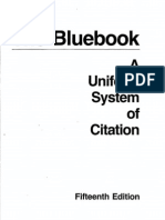 Bluebook Legal Citation