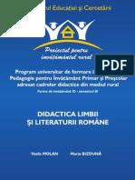Didactica Limbii Romane - Pedagogia Invatamantului Primar Si Prescolar - Molan